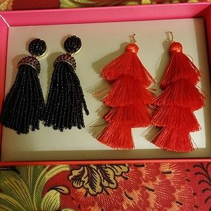 Baublebar Red and Black Tassel Set